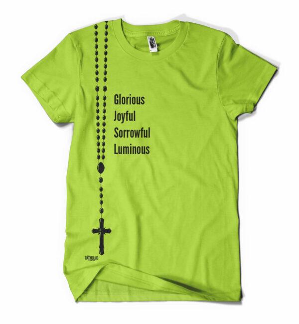 Holy Rosary Tee, Green